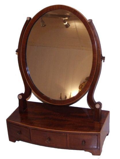- Edwardian Mahogany Dressing Table Mirror