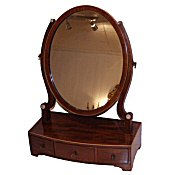 Edwardian mahogany inlaid dressing table mirror