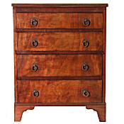 small Regency chest of drawers