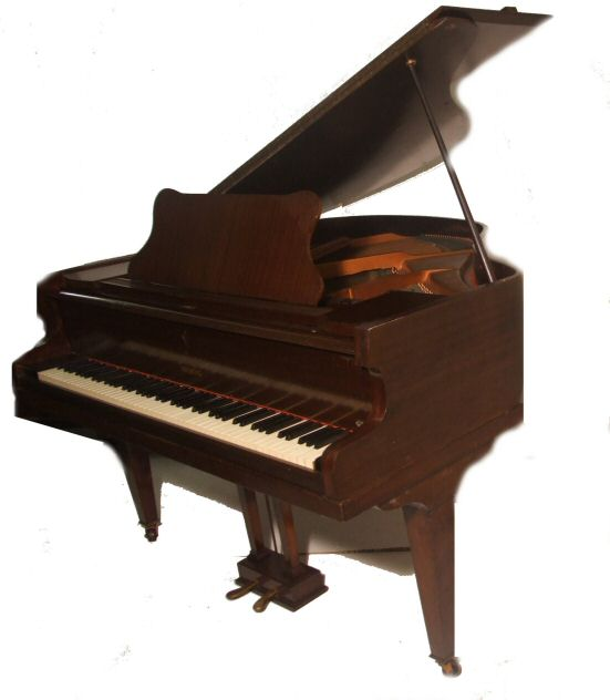Small antique baby grand piano by raymond from harbour for Small grand piano