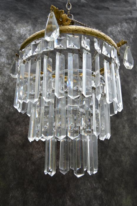 1930 crystal chandelier a gorgeous 1930s crystal chandelier mozeypictures Gallery