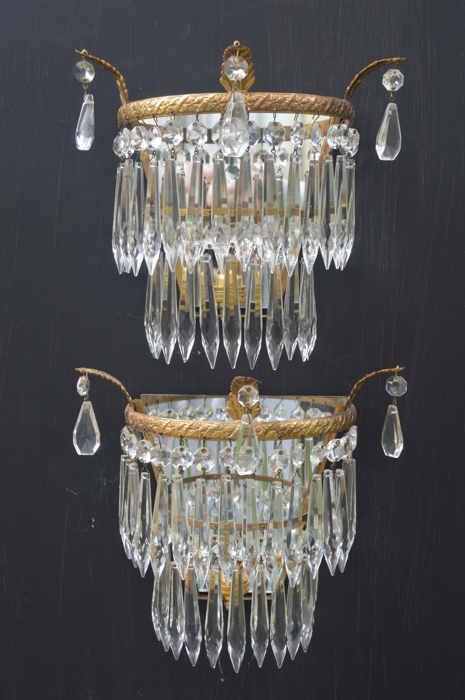 Circa 1930 Icicle Drop Wall Lights