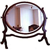 large Edwardian skeleton mahogany mirror