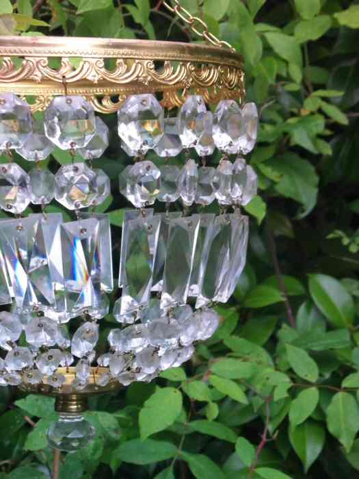 Large Mid 20th Century Bag Chandelier