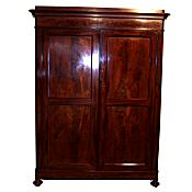 Early Victorian mahogany wardrobe