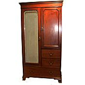 Edwardian combination wardrobe