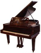 Collard and Collard Rosewood boudoir grand piano