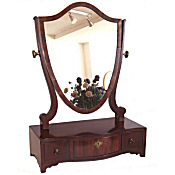 Georgian serpentine front mahogany toilet mirror