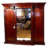 Victorian mahogany combination wardrobe