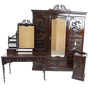 Maple and Co rosewood Victorian bedroom suite