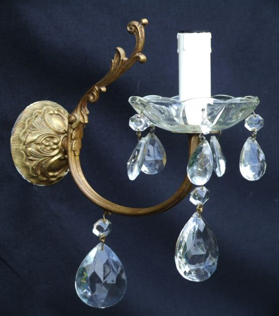 Pretty Pair of Antique Wall Lights