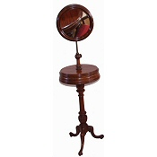 Early Victorian walnut shaving stand