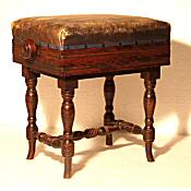 Edwardian adjustable piano stool