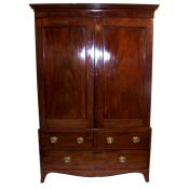short Regency mahogany wardrobe
