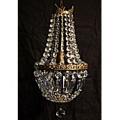 Antique chandeliers antique lighting chandelierswall sconces edwardian purse style chandelier with beautiful accanthus leaf detail rewired ready to install mozeypictures Gallery