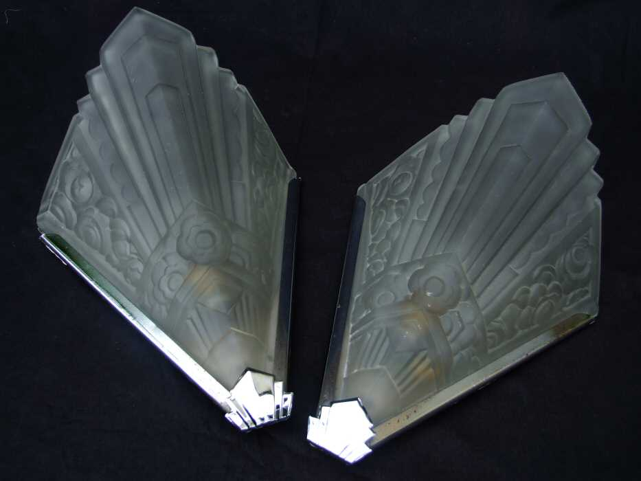Art Deco Wall Lights : Stunning large geometric art deco wall lights