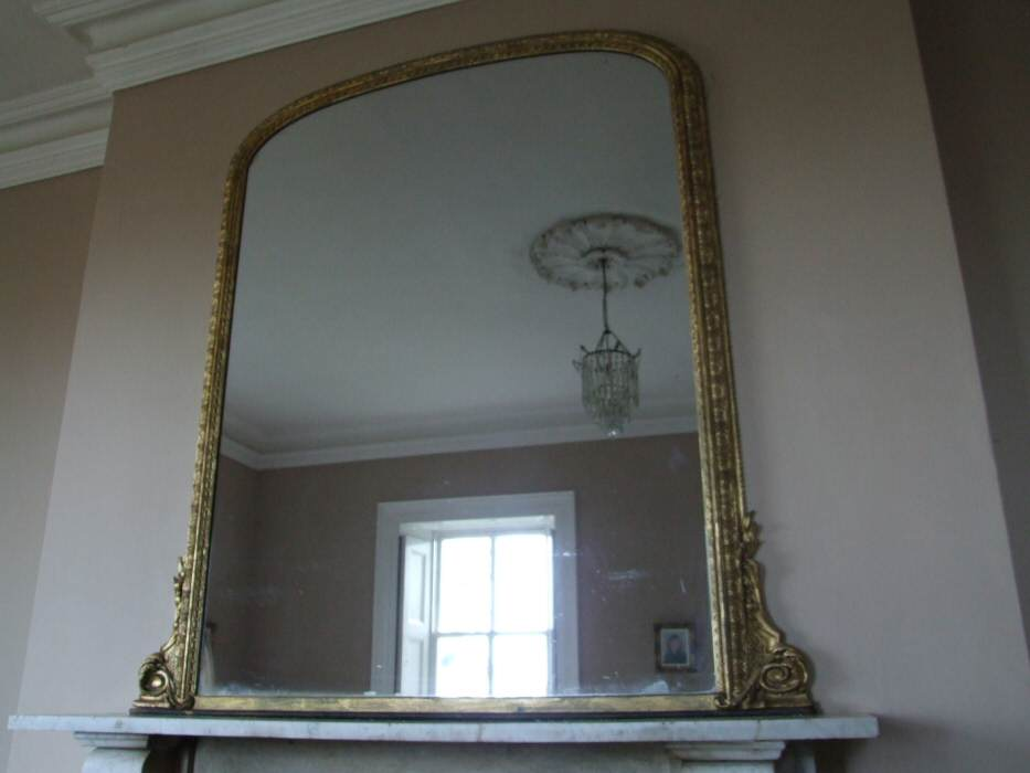 Large Victorian Gilt Overmantle Mirror