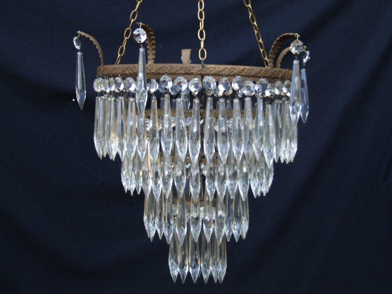 4 tier icicle drop chandelier edwardian 4 tier icicle drop chandelier aloadofball Image collections