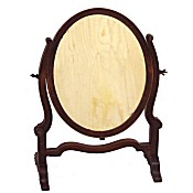 small Edwardian mahogany dressing table mirror