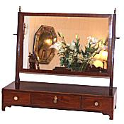 Georgian mahogany dressing table mirror