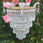Antique and vintage chandeliers mid 20th century 4 tier icicle chandelier aloadofball Image collections