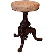 Victorian walnut revolving piano stool
