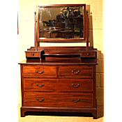 Edwardian inlaid dressing chest