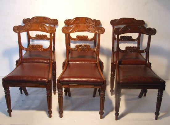 bdec06e994 8 Regency mahogany bar back dining chairs from Harbour Antiques ...