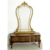 burr walnut cheval mirror