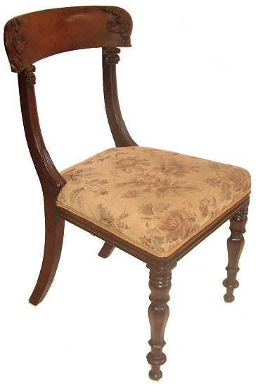 set of four early 19th century mahogany antique dining chairs four