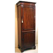 Edwardian inlaid wardrobe of narrow proportions