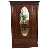 Inlaid mahogany Edwardian bedroom suite